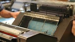 Printing machine running Stock Footage