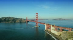 Aerial view of the Golden Gate Bridge, San Francisco, USA Stock Footage