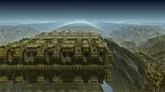 Alien ancient architecture m1012C2 Stock Footage