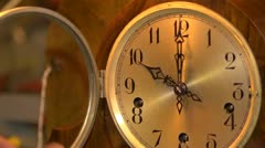 The final act of restoration by a clockmaker. Stock Footage