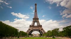 Stock Video Footage of Eiffel tower perfect timelapse