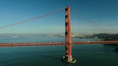 Aerial helicopter view of the Golden Gate Bridge San Francisco, USA - stock footage