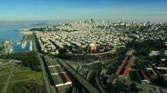 Aerial view of Place of Fine Arts, San Francisco, USA Stock Footage