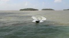 Devil's Island boat approaches - stock footage