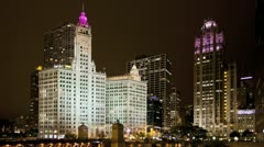 Timelapse Chicago Michigan Ave Stock Footage