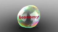 Economic Bubble Pop Visualization Stock Footage