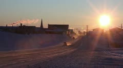 Frozen City of Nome, Alaska Stock Footage