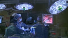 Surgeons performing a medical operation (11 of 15) - stock footage