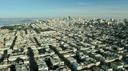 Aerial time lapse view of the districts of San Francisco, USA Stock Footage