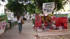Tel Aviv Tent protest 4 Stock Footage