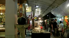 Thailand Chiang Mai Market Stock Footage