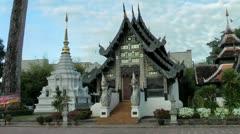 Chiang Mai, Viharn Luang, Thailand Stock Footage