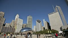 Timelapse Chicago Cloud Gate - stock footage