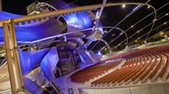 Timelapse Theater Millennium Park loopable Stock Footage