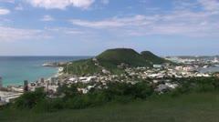 St Maarten view La Belle Creole Stock Footage