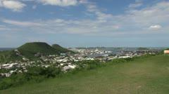 St Maarten view Marigot Bay Stock Footage