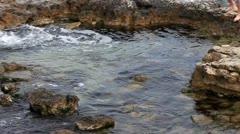 Swimming in the sea of Epiphany, Sevastopol, Ukraine Stock Footage