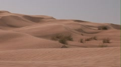 Dunes With Sand Blowing Stock Footage