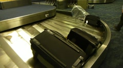 Airport Baggage Claim 2 Stock Footage