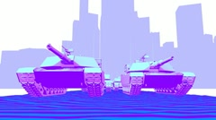 Tanks - Toon (HD) Stock Footage