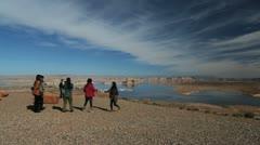 Arizona Lake Powell with Japanese tourists Stock Footage