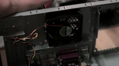 Disassembling Computer - Removing Fan Stock Footage