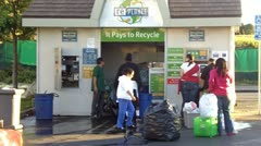 People at Recycling Center Zoom Stock Footage