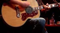 Acoustic Guitar-close up-play fast Stock Footage
