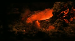 Fire Ashes Stock Footage
