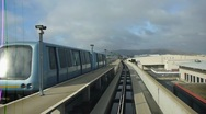 Stock Video Footage of Riding on Air Train