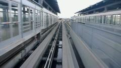 SFO Airport AirTrain Stock Footage