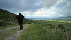 Walking in the Irish Countryside, Ireland Stock Footage
