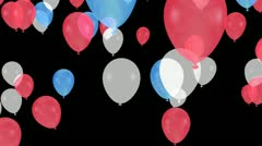 patriotic balloon transition - stock footage