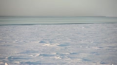 Bering Sea Ice, Pan Right, Alaska Stock Footage