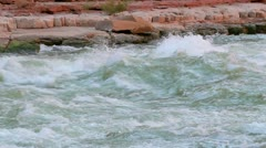 river rapids in colorado river in grand canyon national park - stock footage