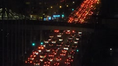 Night Rush Hour Timelapse 2 Stock Footage
