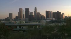 Downtown Los Angeles City at Sunset -  Time Lapse Stock Footage
