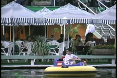 Armenia resturant in park with kids Stock Footage