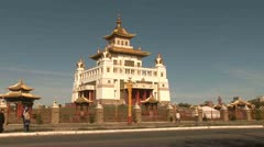 Buddhism Temple, Elista - Russia Stock Footage