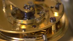 Close up of an Earnshaw watch movement Stock Footage