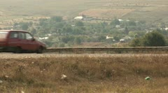Car Passing by - Ukraine Stock Footage