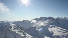 Alps mountain view Stock Footage