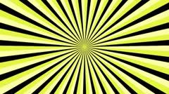 Spiral Sunbeams Loop7 yellow Stock Footage