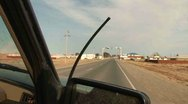 Stock Video Footage of While Driving, Countryside - Kazakhstan