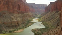 Grand canyon and colorado river Stock Footage