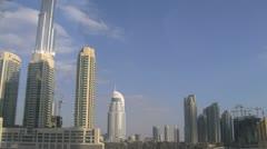 Buildings Dubai view from Metro Stock Footage
