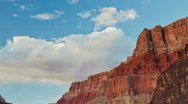 Time lapse of clouds over the grand canyon Stock Footage