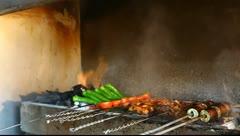 Turkish kebab Stock Footage