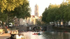 Utrecht, City Center - The Netherlands Stock Footage
