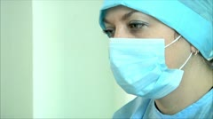 Woman doctor is under stress 1 Stock Footage